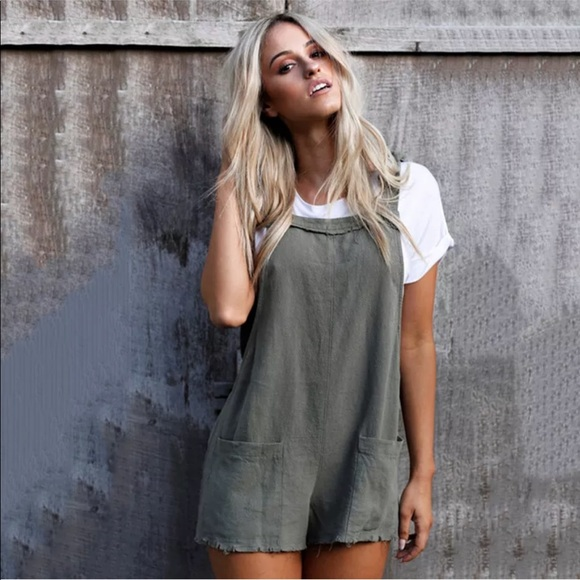 dc8b491aee31 Backless Cotton Overalls